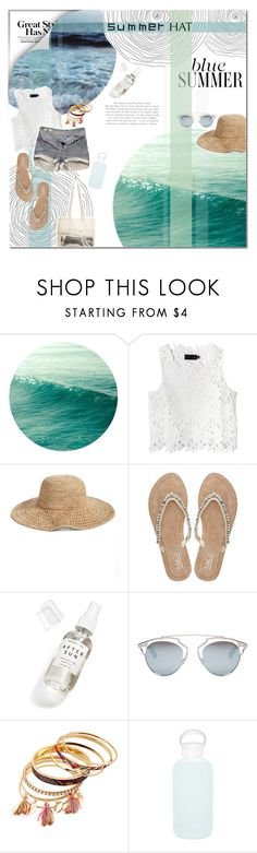 """""""Untitled #9"""" by dodovicious ❤ liked on Polyvore featuring Line + Dot, Pull&Bear, Nordstrom, M&Co, Herbivore, Christian Dior, bkr, Borders&Frontiers and summerhat"""