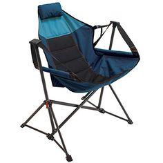 Rio Gear Outdoor Foldable Hammock Lounger - Blue Sky/Navy RIO Gear Hammock Swing Chair, Swinging Chair, Foam Pillows, Camping Chairs, Beach Chairs, Steel Frame, Outdoor Chairs, Outdoor Fun, Rio