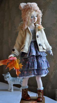 Купить Коллекционная кукла Ариша - бледно-сиреневый, авторская ручная работа, авторская кукла