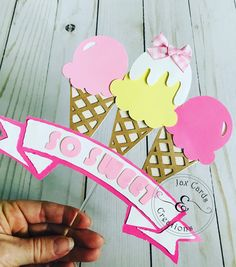 Ice Cream cake Topper / So sweet Cake topper / Too Sweet / Custom Cake topper Sweet Cakes, Cute Cakes, Custom Cake Toppers, Cupcake Toppers, Ice Cream, Cream Cake, Candy Party, Cake Toppings, For Your Party