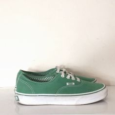 MARIANNA'S CLOSET GREEN LACE UP VANS Green Lace, Vans Authentic, Lace Up, Sneakers, Closet, Shoes, Fashion, Trainers, Armoire
