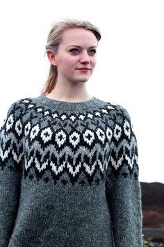 Julia Gretarsdottir in her Icelandic Sweater photo by Klara Rakel The Warlocks, Icelandic Sweaters, Champion, Pullover, Fashion, Moda, Fashion Styles, Sweaters, Fasion