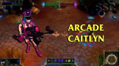Arcade Caitlyn LoL Custom Skin ShowCase