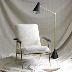 """The new Ingmar Chair by Jonathan Adler """"Inspired by Scandinavian modernism (with an Italian flair),"""" Love it!"""