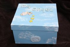Items similar to Miscarriage or Infant Loss Large Angel Baby Memory Box blue with clouds on Etsy Diy Craft Projects, Diy Crafts, Grieving Mother, Angel Babies, Child Loss, Baby Box, Baby Memories, Infant Loss, Bereavement