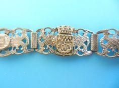 Antique Grand Tour Paris Souvenir 5 ornate links  by RAKcreations
