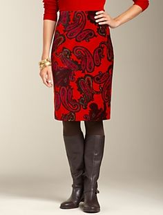 Talbots - Regal Paisley Pencil Skirt | | Misses