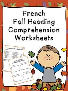 Printables French Reading Comprehension Worksheets comprehension french and worksheets on pinterest fall reading la