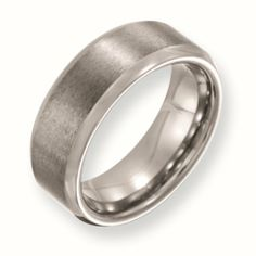 Tungsten Wedding Bands Beveled Edge 8mm Brushed and Polished Finish Comfort Fit (Size 7 to 13) Chisel. $69.75