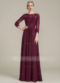 A-Line Princess Scoop Neck Floor-Length Ruffle Beading Sequins Zipper Up  Sleeves Sleeves No Other Colors General Plus Chiffon Lace US 2   UK 6   EU  32 ... f0d4f3d88479