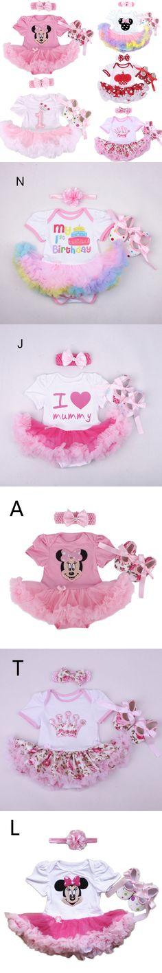 Wholesale 2016 Baby Infant 3pcs Clothing Sets Christmas Tutu Rompers Dress+Headband+Shoes Baby Girl Birthday Jumpsuit Costumes