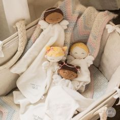 Want an adorable little gift for baby you can personalize? Take a peek at these baby angel lovey blankets from Hallmark Baby