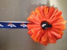 Denver bronco headband Check out this item in my Etsy shop https://www.etsy.com/listing/206814476/nfl-bronco-flower-headband