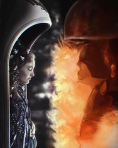 Padmé and Vader Star Wars Rebels, Vader Star Wars, Star Wars Day, Star Wars Fan Art, Darth Vader, Anakin And Padme, Star Wars Pictures, Chef D Oeuvre, Star Wars Poster