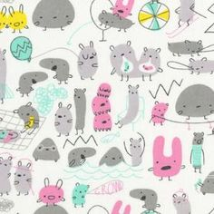 Monsterz fabric from the purl