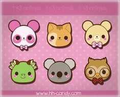 Inspiration Amigurumi: Sweet Kawaii Faces Animals