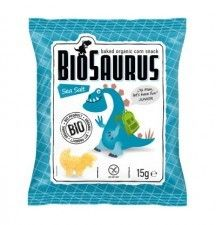 BIOSAURUS bio chrupki kukurydziane SÓL 15g sklep ze zdrową żywnością,poleca, bio żywność,bio żywność dla dzieci ,naturalna żywność biotojestto.pl