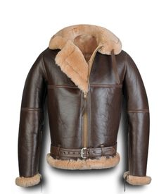Shearling Bomber Coats for Men | Koen RAF Sheepskin Bomber Jacket - Leather4sure Shearling Jackets