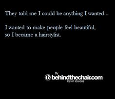I didn't know that was part of doing hair when I wanted to be a stylist. I love hair even more because of this reason. Well now, the only reason :-)