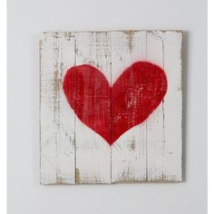 Reclaimed Wood Red Heart Sign ($26) ❤ liked on Polyvore featuring home, home decor, wall art, grey, home & living, home décor, wall décor, wall hangings, heart home decor and photo wall art