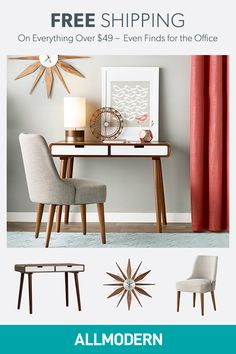 Are you looking to brighten up a dull room and searching for interior design tips? One great way to help you liven up a room is by painting and giving it a whole new look. Formal Living Rooms, Living Room Modern, Decoration For Ganpati, Single Chair, All Modern, Modern Desk, Office Decor, Office Ideas, Interior Design Tips