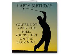 Birthday Card For Golfer By SendPositiveThoughts On Etsy