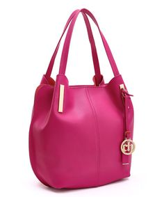 Another great find on #zulily! Fuchsia Leather Hobo #zulilyfinds