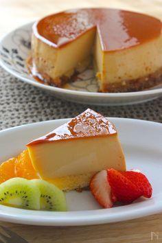 プリンもケーキも一度に作れる大満足な話題のケーキです