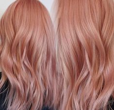 Rose gold peach pink hair