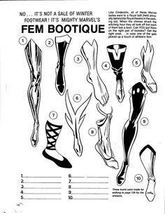 Marvel Comics footwear quiz