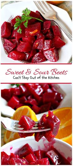 Delicious Sweet and Sour Beets use fresh beets & orange zest in a tasty sweet and sour sauce. Great way to use up garden produce. Beet Recipes, Canning Recipes, Vegetable Recipes, Vegetarian Recipes, Healthy Recipes, Recipies, Vegetable Ideas, Smoothie Recipes, Canning 101