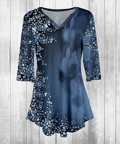 799ee55a514 Blue Abstract Swing Tunic - Plus Too #zulily #zulilyfinds Sewing Blouses,  Blue Abstract