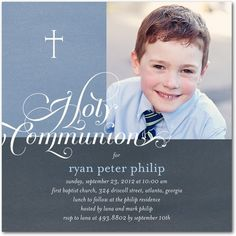 First Communion reception invitation idea