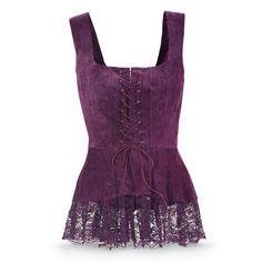 Purple Suede Corset Top - Women's Clothing & Symbolic Jewelry – Sexy, Fantasy, Romantic Fashions