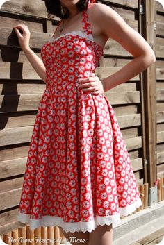 free sundress / rockabilly dress from burda