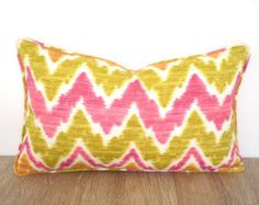 check out ikat outdoor lumbar pillow case 20x12 chevron chair cushion outdoor fabric geometric