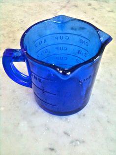 Vintage Cobalt Blue Measuring Cup. Depression by sweetladyjune
