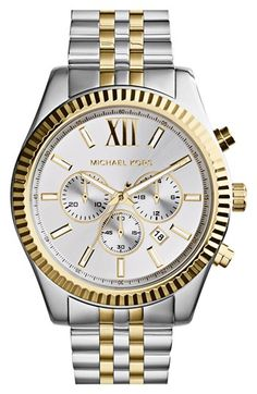 Michael Kors 'Large Lexington' Chronograph Bracelet Watch, 45mm available at #Nordstrom