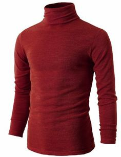 1c79348e8549 Industries Needs — H2H Mens Basic Knitted Turtleneck Pullover... Mens  Turtleneck, Casual