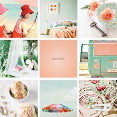 ChicDecó | Hello August • melon and mint • vintage summer • pistachio ice-cream • beach umbella • retro wagon • bikes • teepee