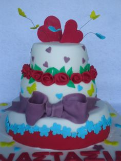 - colorful birthday cake