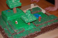 """Minecraft cake up close by becbecjobit, via Flickr."" This is Carter's favorite one!"