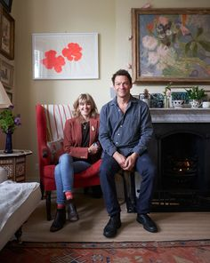 Dominic West's Cozy and Colorful London Home