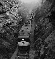 TC, Cookeville, Tennessee, 1963 Eastbound Tennessee Central Railway freight train labors up Algood hill west of Cookeville, Tennessee, in April 1963. Photograph by J. Parker Lamb, © 2016, Center for Railroad Photography and Art. Lamb-02-025-08