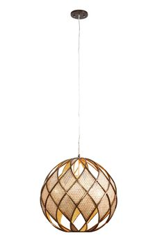 Four Light Recycled Pendant, Woven Pendant, Varaluz, Bronze, Contemporary, Transitional Lighting