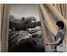 Martha Rosler. Cleaning the Drapes, 1967-1972.