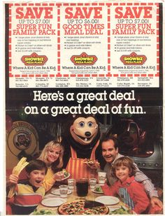 Showbiz Pizza before Chuckie Cheese!