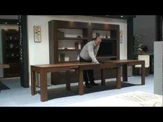 Mesa extensible de comedor. Muebles Artenogal - YouTube