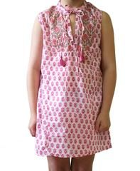Kids Cotton Voile Tank Dress in Rose