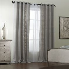 IYUEGO W x L (Set of 1 Panel) Modern Polyester Cotton Blend Curtain Solid Grey Curtain Grommet Top Curtain with Multi Size Custom Window Treatments Draperies & Curtains Panels Gray Sheer Curtains, Grommet Curtains, Panel Curtains, Thing 1, Grey Room, Custom Window Treatments, Interior Decorating, Interior Design, Home Decor Store